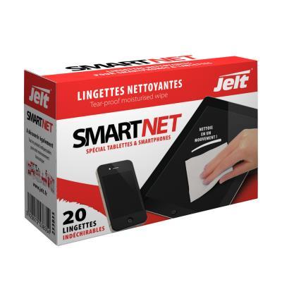 Boîte de 20 lingettes individuelles Jelt SmartNet pour tablettes et smartphones (photo)