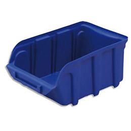 Bac à bec en plastique - 1 L - porte étiquette - polypropylène bleu - L 10 x H 7 x P 16 cm (photo)