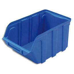 Bac à bec en plastique - 4 L - porte étiquette - polypropylène bleu - L14x H 12,5 x P23 cm (photo)