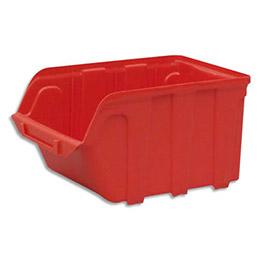 Bac à bec en plastique - 4L - porte étiquette - polypropylène rouge - L 14 x H 12,5 x P 23 cm (photo)