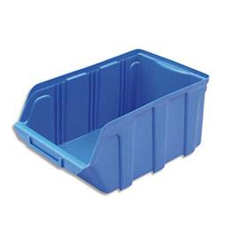 Bac à bec de rangement 10L Tekni avec porte étiquette en polypropylène bleu - L20xH15xP33 cm (photo)