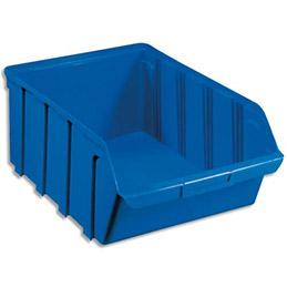 Bac à bec en plastique - 28 L - porte étiquette - polypropylène bleu - L30,5xH17,5xP46 cm (photo)