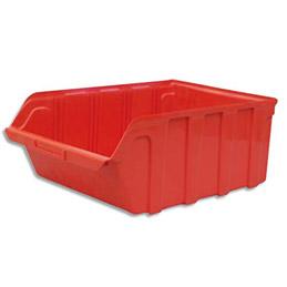 Bac à bec en plastique - 28 L - porte étiquette - polypropylène rouge - L30,5xH17,5xP46 cm (photo)
