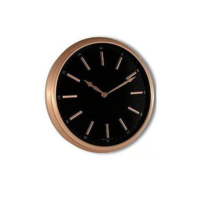 Horloge murale analogique - Ø 29 cm - aluminium finition cuivrée (photo)