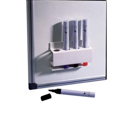 Porte-marqueurs magnétique rectangulaire Nobo - 12,1 x 8,6 x 3,8 cm - blanc