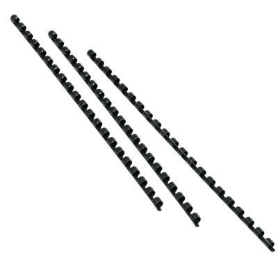 Baguette de reliure spirale plastique CombBind - diamètre 28 mm  pour 240 feuilles- noir - paquet 50 unités