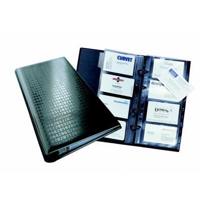 Reliure à anneaux pour cartes de visites Durable Visifix Centium - 25 pochettes pour 200 cartes - noir