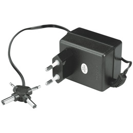Adaptateur 3 à 12V - 500MA - polarité inversable (photo)