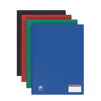 Protège document Elba - en polypropylene memphis - assortis classique - 40 pochettes/80 vues