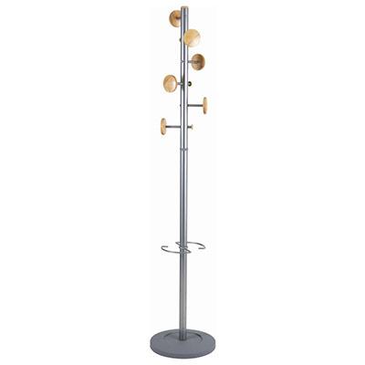 Porte-manteau Music - 6 patères - gris bois/métal