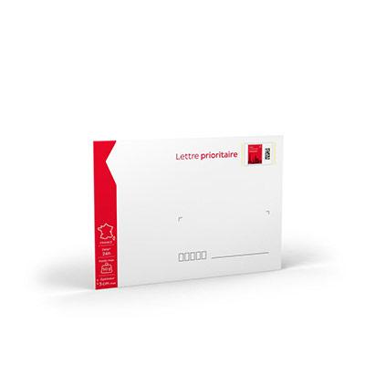 Enveloppes pré-timbrées - lettre prioritaire - 162 x 229 mm - 50 g - soumis à conditions - lot de 10