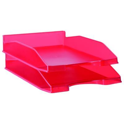 Bac à courrier A4 - rouge translucide