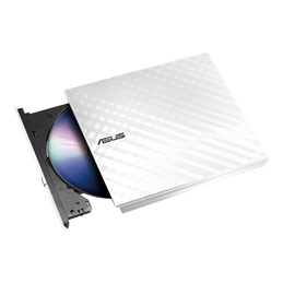 ASUS SDRW-08D2S-U LITE - Lecteur de disque - DVD±RW (±R DL)/DVD-RAM - 8x/8x/5x - USB 2.0 - externe - blanc (photo)