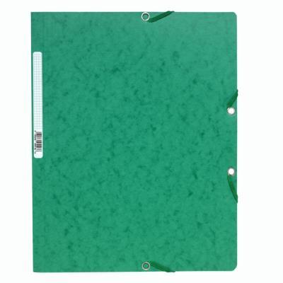 Chemise Exacompta ;Nature Future A4 à fermeture élastique sans rabat - 250 feuilles - 240 x 320 mm - carte - vert
