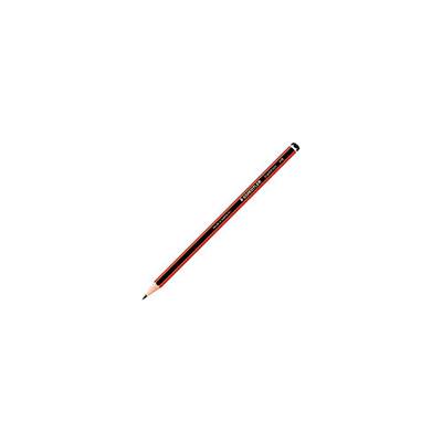 Crayon graphite Staedtler - mine H - corps hexagonal noir et rouge - lot de 12