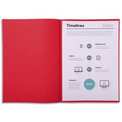 Sous-chemise Exacompta Super 60 - 60 g - rouge - 22 x 31 cm - paquet de 250