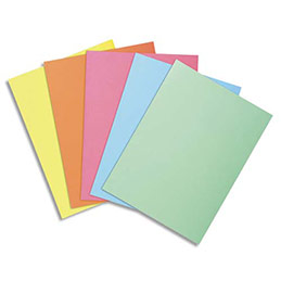 Sous-chemise Exacompta Super 60 - 60 g - coloris assortis pastels - 22 x 31 cm - paquet de 250