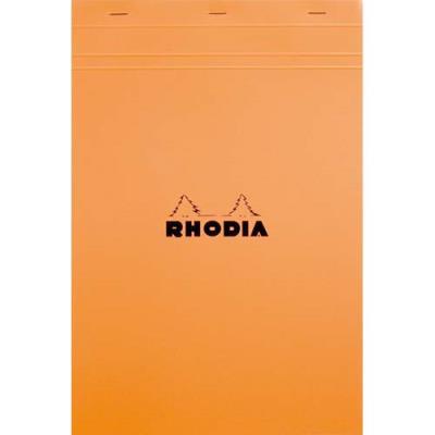 Bloc Rhodia Orange - 80g - 80 feuilles A4 détachables - petits carreaux (photo)