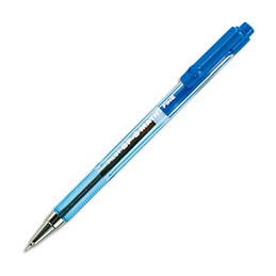 Stylo bille Pilot BPS Matic - pointe fine rétractable - bleu