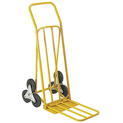Diable escalier double pelle - charge 80 kg - orange (photo)