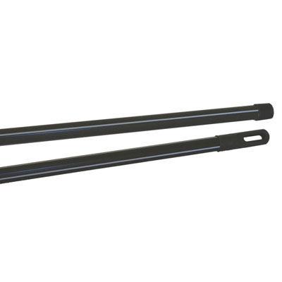 Manche métal gainé - noir rayé gris - 120 cm