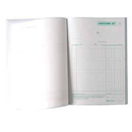 Carnet de factures Manifold, 50feuilles autocopiantes, sans carbone, 148x210mm (bloc 50 feuilles) (photo)