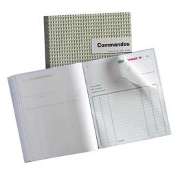 Carnet de commandes Manifold, 50 feuilles autocopiantes, sans carbone, portrait, 180 x 210 mm (bloc 50 feuilles) (photo)