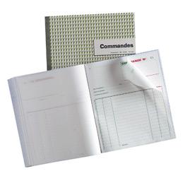 Carnet autocopiant de commandes Tripli - Format 21 x 18 cm, portrait, 50 feuilles (bloc 50 feuilles) (photo)