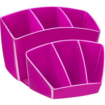Pot à crayon CEP Gloss - multiples rangements - capacité 40 crayons - rose pepsy
