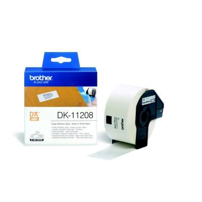 Brother DK-11208 - rouleau de 400 étiquettes - 38 x 90 mm - pour QL 1050, 1060, 500, 550, 560, 570, 580, 650, 700, 710, 720