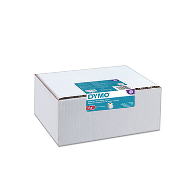 Étiquettes d'expédition/pour badges pour labelWriter - rectangulaires blanches 101 mm x 54 mm - boîte de 6 rouleaux de 220 Étiquettes - paquet 6 rouleaux (photo)