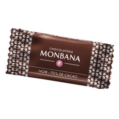 Paquet de 200 mini tablettes de chocolat Monbana 5g - paquet 200 unités