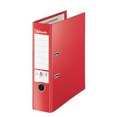 Classeur à levier Esselte Plus - polypropylène - format maxi A4+ - dos 8 cm - rouge