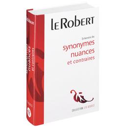 Dictionnaire Robert des synonymes et des contraires (photo)