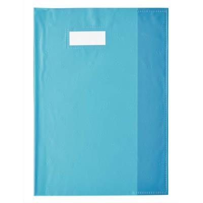 Protège cahier Elba opaque grain cuir - 24 x 32 cm - bleu turquoise (photo)