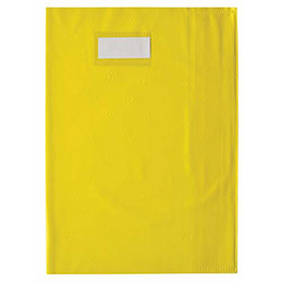 Protège cahier opaque Elba Grain STYL'SMS 12/100° sans rabat marque-page 24x32 jaune (photo)