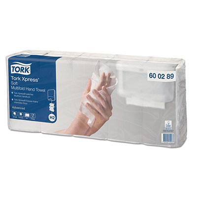 Essuie-mains doux Xpress H2 Tork - double épaisseur - pliage enchevêtré - Carton de 7 paquets de 110 feuilles