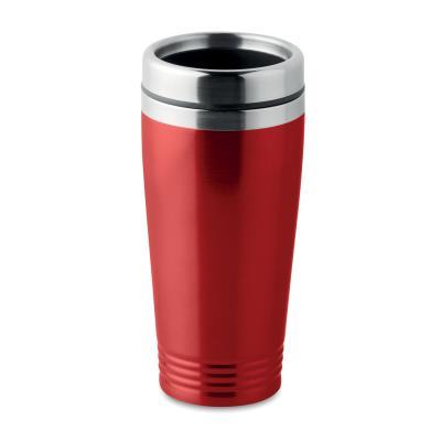 Mug de voyage isotherme en acier 40 cl - rouge