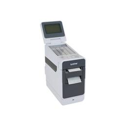 Brother TD-2130N - Imprimante d'étiquettes - papier thermique - Rouleau (6,3 cm) - 300 ppp - jusqu'à 152.4 mm/sec - USB 2.0, LAN, série, hôte USB (photo)