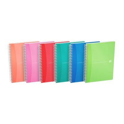Carnet de bureau Oxford My Colours - A5 double spirale polypropylène - 180 pages - quadrillé - couleurs assorties - compatible SCRIBZEE