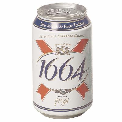 Bière 1664 - 33 cl - lot de 24 canettes (photo)