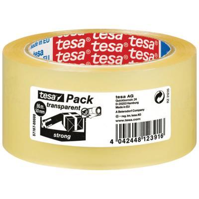 Ruban adhésif d'emballage Tesa - polypropylène - 60 microns - H50mm x L66m - transparent (photo)