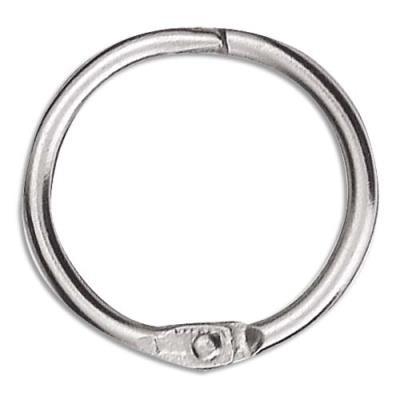 Sachet de 10 anneaux brisés en métal - diamètre 30 mm