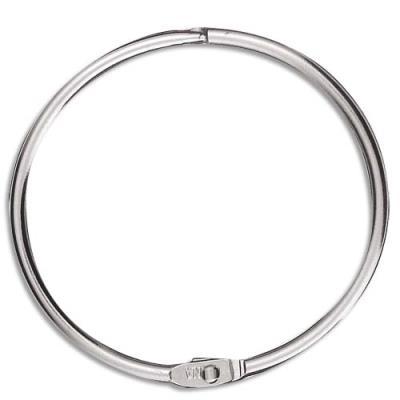 Sachet de 5 anneaux brisés en métal - diamètre 64 mm