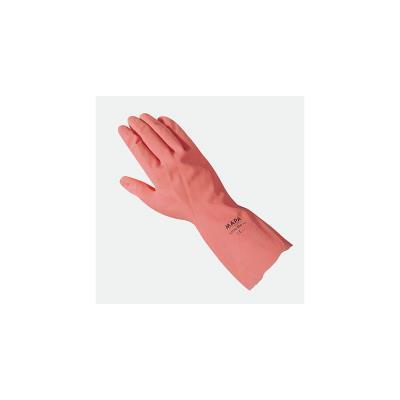 Gants de ménage Mapa Vital 115 en latex - taille 7 - rose