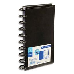 Porte-cartes de visite VIQUEL Géode System - capacité 160 cartes - polypro - L13 x H26,5 x P2,8 cm - noir