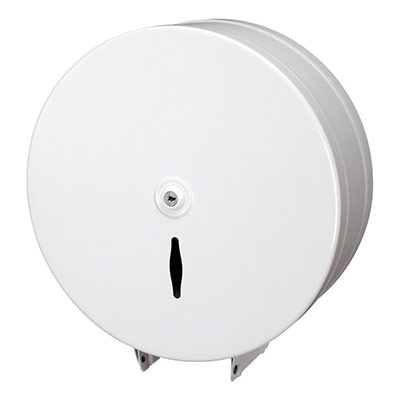 Distributeur de papier toilette Mini jumbo - JVD - blanc (photo)