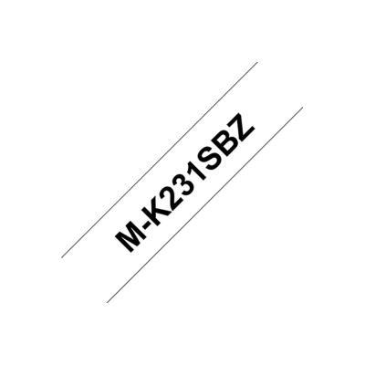 Ruban série M Brother MK2311B - Ruban noir / blanc - 12mm x 8 m