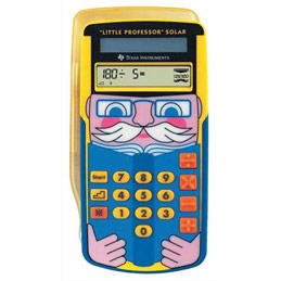 Calculatrice éducative Texas Instruments Little Professor - 4 opérations - solaire (photo)