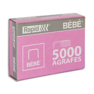 Agrafes Bébé rose - boîte de 5000 (photo)